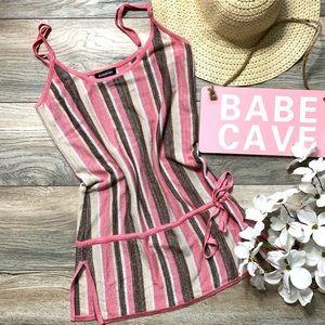 Bebe striped mini dress/tunic